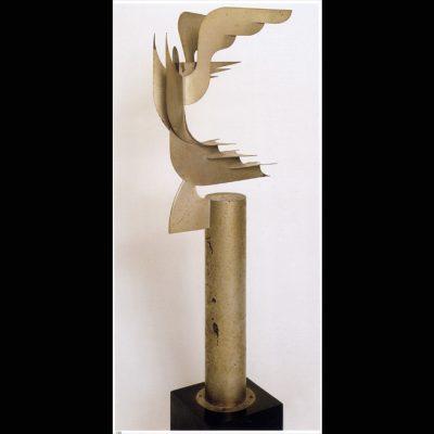 Thayaht(Ernesto Michaelles)(1893-1959)-La vittoria dell'aria-1931-68x20x14cm-Ferro e alluminio dipinto