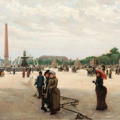 Lessi Giovanni_ Parigi, olio su tela, cm. 35 x 60