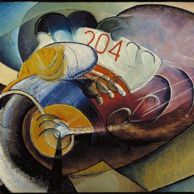 Giannattasio Ugo-ll motociclista-1918-olio su tavola-cm50x70